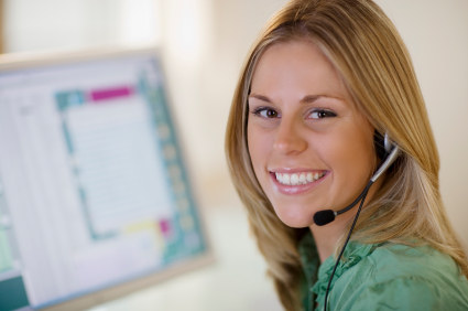 Smiling customer service